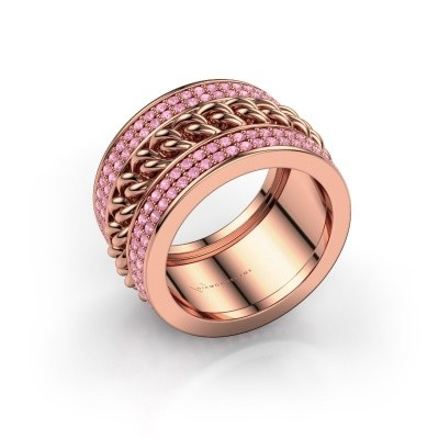Picture of Ring Jayda 375 rose gold pink sapphire 1.2 mm