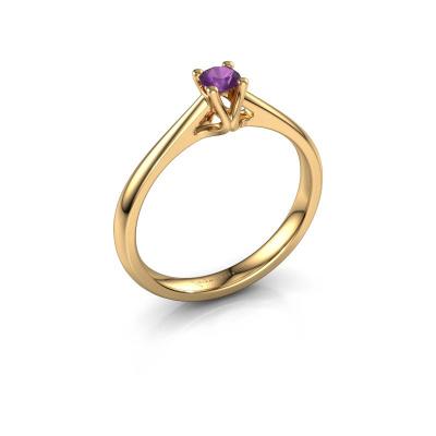 Verlobungsring Janna 1 585 Gold Amethyst 3.4 mm