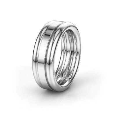 Friendship ring WH6018M 950 platinum ±8x2.8 mm