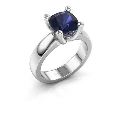Ring Clelia CUS 925 silver sapphire 8 mm