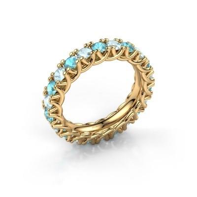 Bild von Ring Fenna 375 Gold Blau Topas 3 mm