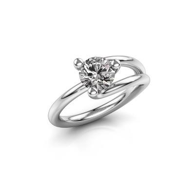 Foto van Verlovingsring Roosmarijn 925 zilver diamant 1.00 crt