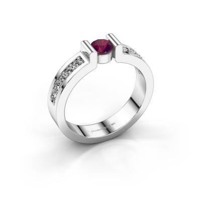 Engagement ring Isabel 2 925 silver rhodolite 4 mm