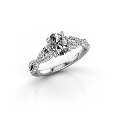 Foto van Verlovingsring Marilou OVL 950 platina diamant 1.360 crt