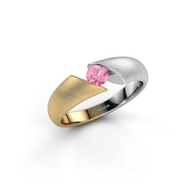 Foto van Verlovingsring Hojalien 1 585 goud roze saffier 4 mm