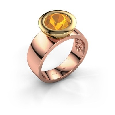 Ring Maxime 585 Roségold Citrin 8 mm