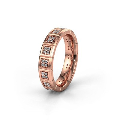 Trouwring WH2056L15DP 375 rosé goud diamant ±5x2.4 mm