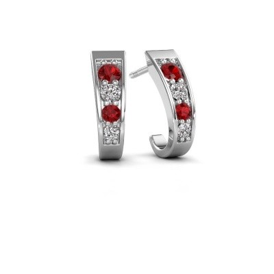 Picture of Earrings Glady 585 white gold ruby 3 mm