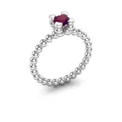 Ring Aurore 950 platina rhodoliet 5 mm