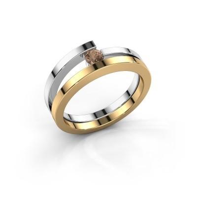 Ring Sandy 585 goud bruine diamant 0.15 crt