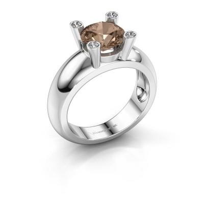 Ring Tamara RND 925 Silber Braun Diamant 2.00 crt