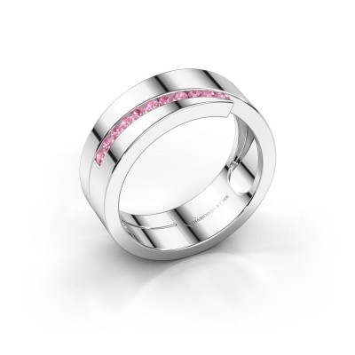 Picture of Ring Loma 925 silver pink sapphire 1.5 mm