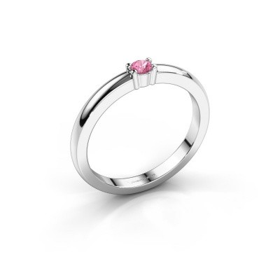 Picture of Promise ring Yasmin 1 585 white gold pink sapphire 2.7 mm