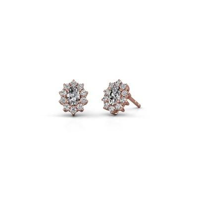 Earrings Leesa 375 rose gold diamond 1.60 crt
