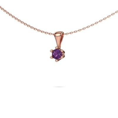 Picture of Necklace Fay 375 rose gold amethyst 4 mm