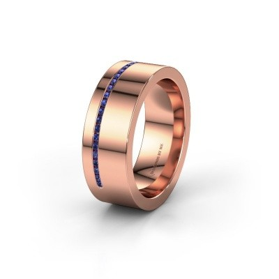 Wedding ring WH0143L17BP 375 rose gold sapphire ±7x2 mm