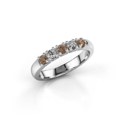 Engagement ring Rianne 5 950 platinum brown diamond 0.40 crt