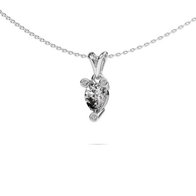 Photo de Collier Cornelia Pear 585 or blanc diamant 0.67 crt