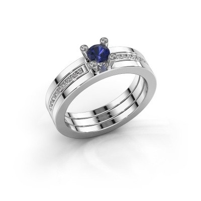 Picture of Ring Alisha 925 silver sapphire 4 mm