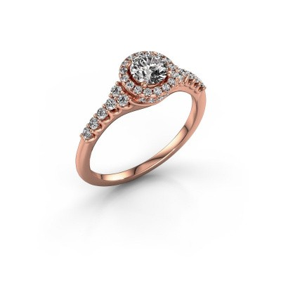 Foto van Verlovingsring Loralee 375 rosé goud diamant 0.873 crt