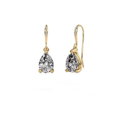 Drop earrings Laurie 2 585 gold diamond 0.65 crt