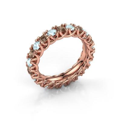 Ring Fenna 585 rosé goud bruine diamant 1.10 crt