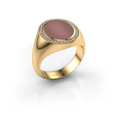 Zegel ring Adam 3 585 goud carneool 13x11 mm