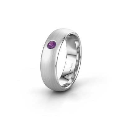 Picture of Wedding ring WH0101L36BM 585 white gold amethyst ±0.24x0.08 in