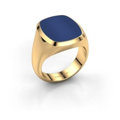 Foto van Zegelring Benjamin 4 585 goud lapis lazuli 17x14 mm