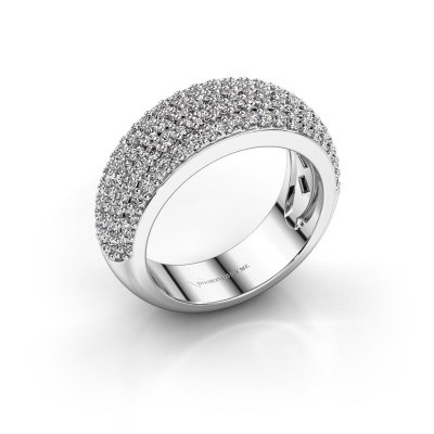 Foto van Ring Cristy 950 platina zirkonia 1.2 mm