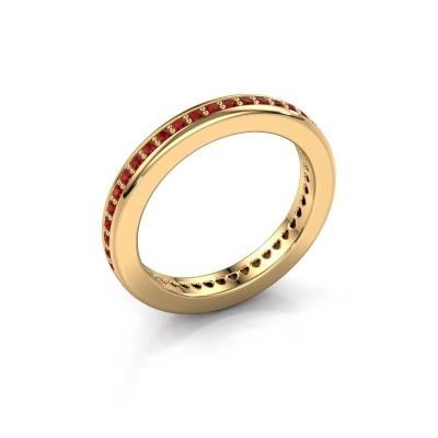Aanschuifring Elvire 3 375 goud robijn 1.3 mm