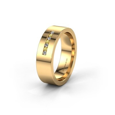 Wedding ring WH0108L16BP 375 gold yellow sapphire ±0.24x0.08 in