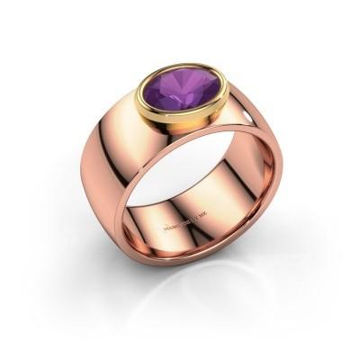 Ring Wilma 1 585 rosé goud amethist 8x6 mm