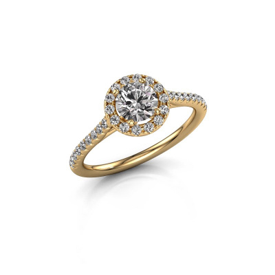 Picture of Engagement ring Seline rnd 2 585 gold diamond 0.920 crt