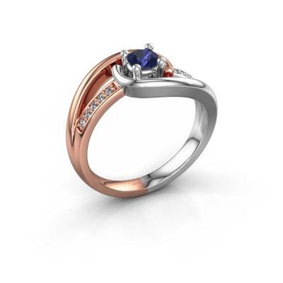 Ring Aylin 585 rosé goud saffier 4 mm