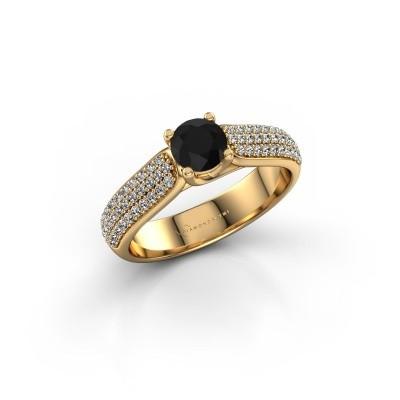 Foto van Verlovingsring Leoness 375 goud zwarte diamant 0.60 crt
