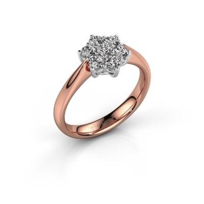 Promise ring Chantal 1 585 rosé goud zirkonia 2.7 mm