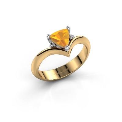 Foto van Ring Arlette 585 goud citrien 7 mm