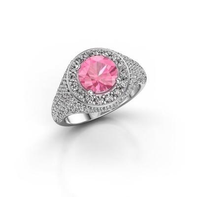 Foto van Ring Dayle 925 zilver roze saffier 7 mm
