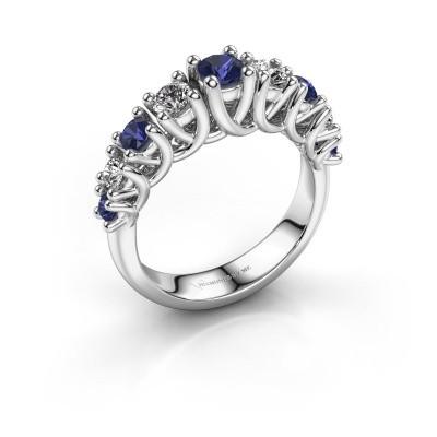 Engagement ring Fatima 585 white gold sapphire 3.7 mm