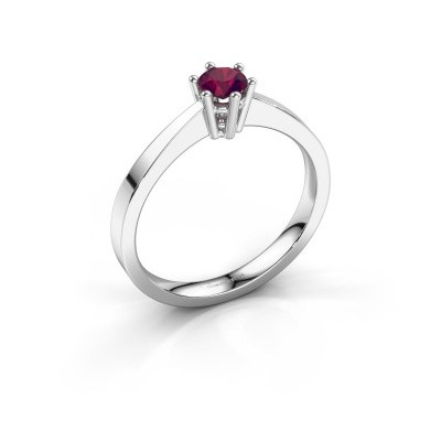 Engagement ring Noortje 925 silver rhodolite 4 mm