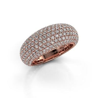 Foto van Ring Lyndia 375 rosé goud lab-grown diamant 2.769 crt