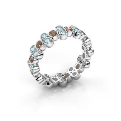 Ring Victoria 925 Silber Braun Diamant 0.66 crt
