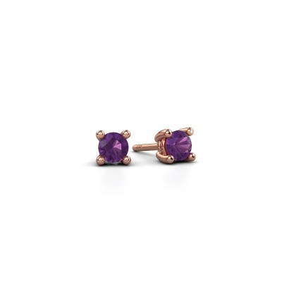 Picture of Stud earrings Sam 375 rose gold amethyst 4 mm
