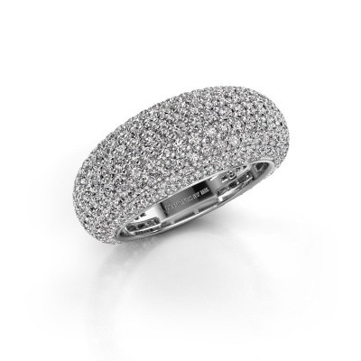 Picture of Ring Lyndia 585 white gold zirconia 0.8 mm