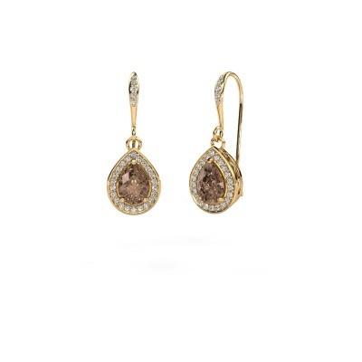 Oorhangers Beverlee 2 375 goud bruine diamant 1.435 crt