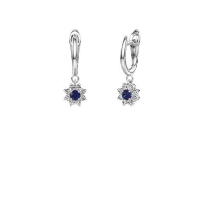 Drop earrings Camille 1 585 white gold sapphire 3 mm