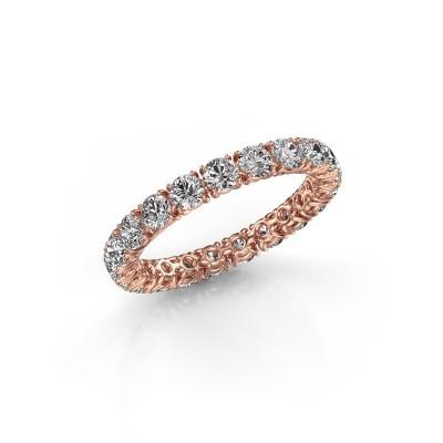 Foto van Ring Vivienne 2.9 375 rosé goud diamant 1.90 crt