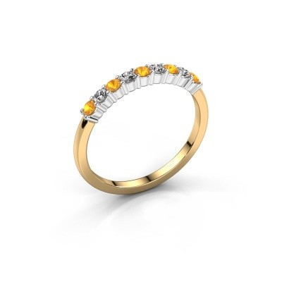 Picture of Engagement ring Yasmin 9 585 gold citrin 2.4 mm