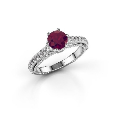 Picture of Engagement ring Venita 925 silver rhodolite 6.5 mm